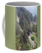 Railroad And Tunnels On Mountain Coffee Mug
