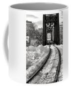 Railroad Bridge In Winter Coffee Mug