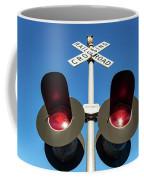 Railroad Crossing Lights Coffee Mug