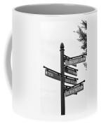 Railroad Directions_bw Coffee Mug