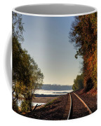 Railroad Track By The Mississippi  Coffee Mug