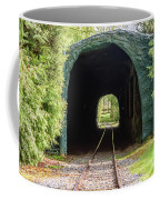 The Railway Passing Through The Tunnel To Meet The Light Coffee Mug