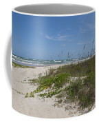 Railroad Vine And Sea Oats On The Atlantic In Florida Coffee Mug