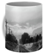 Railway Into The Clouds Bw Coffee Mug