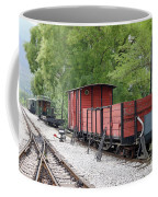 Railway Station With Old Wagons Coffee Mug