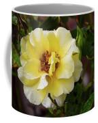 Rain Coated Yellow Rose Coffee Mug