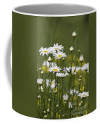 Rain Drops On Daisies Coffee Mug