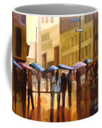 Rain In Manhattan Number Seventeen Coffee Mug by Tate Hamilton