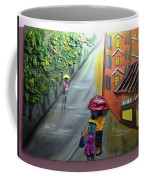 Rain Nature And Street  Coffee Mug