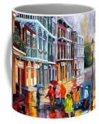 Rain On St. Peter Street Coffee Mug