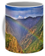 Rainbow Across Canyon Coffee Mug