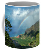 Rainbow At Kalalau Valley Coffee Mug