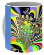Rainbow Butterfly Bouquet Fractal Abstract Coffee Mug