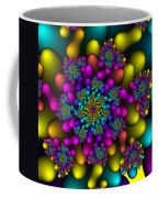 Rainbow Fireworks Fractal Coffee Mug