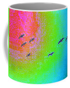 Rainbow Gulls Coffee Mug