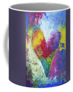 Rainbow Heart In The Cloud Acrylic Paintings Coffee Mug