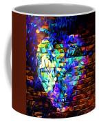 Rainbow Heart On A Wall Coffee Mug