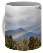 Rainbow In Front Of Sharp Top Coffee Mug