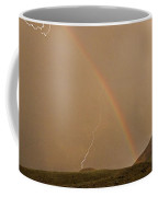 Rainbow Lightning And Table Mountain-signed Coffee Mug