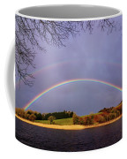Rainbow On The Double Coffee Mug