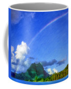 Rainbow Over Bora Bora Coffee Mug