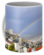 Rainbow Over Haifa, Israel  Coffee Mug