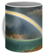Rainbow Over Jenny Lake Wyoming Coffee Mug by Albert Bierstadt