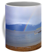 Rainbow Over Priest Lake Coffee Mug
