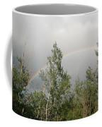 Rainbow Past The Treeline Coffee Mug