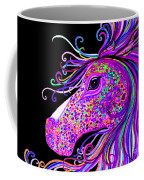 Rainbow Spotted Horse Head 2 Coffee Mug