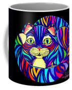 Rainbow Striped Cat 2 Coffee Mug