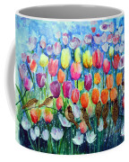 Rainbow Tulips Coffee Mug