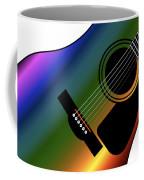 Rainbow Western Guitar Coffee Mug