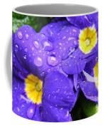 Raindrops On Blue Flowers Coffee Mug