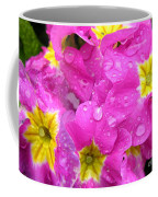 Raindrops On Pink Flowers 2 Coffee Mug by Carol Groenen