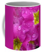 Raindrops On Pink Flowers Coffee Mug
