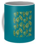Rainforest Resort - Tropical Leaves Elephant's Ear Philodendron Banana Leaf Coffee Mug