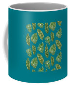 Rainforest Resort - Tropical Leaves Elephant's Ear Philodendron Banana Leaf Coffee Mug