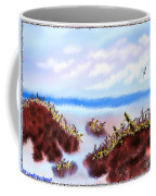 Rainy Beach Scene Coffee Mug