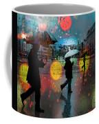 Rainy City Scene Coffee Mug