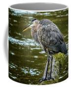 Rainy Day Heron Coffee Mug by Belinda Greb