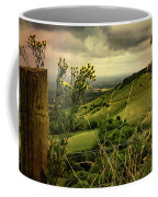 Rainy Day Hilltop View On The South Downs Coffee Mug by Chris Lord