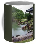 Rainy Japanese Garden Pond Coffee Mug