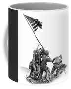 Raising The Flag Coffee Mug