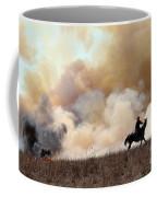 Rancher Starting A Controlled Burn Coffee Mug