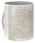 Rancho Cucamonga California Us City Street Map Coffee Mug