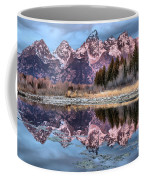 Grand Teton Snow Capped Reflections Coffee Mug