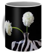 Ranunculus In Black And Whie Vase Coffee Mug