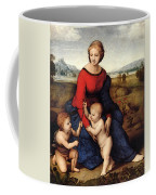 Raphael Madonna Of Belvedere  Madonna Del Prato  Coffee Mug