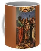 Raphael St Cecilia With Sts Paul John Evangelists Augustine And Mary Magdalene Coffee Mug